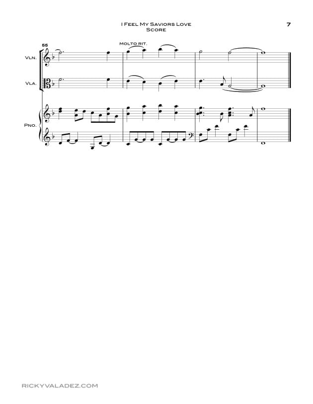 I Feel My Saviors Love Sheet Music for Piano, Violin and Viola-07