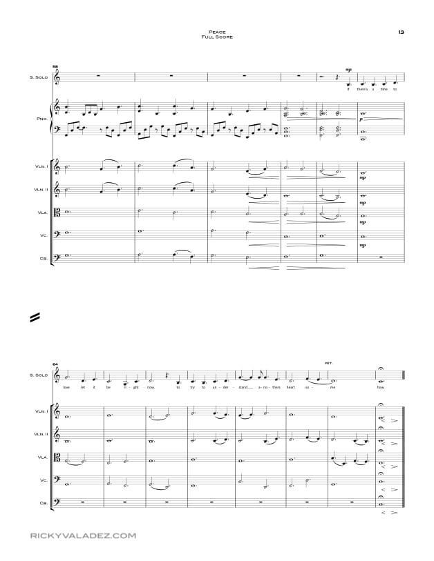 Peace Sheet Music for Full Orchestra-13