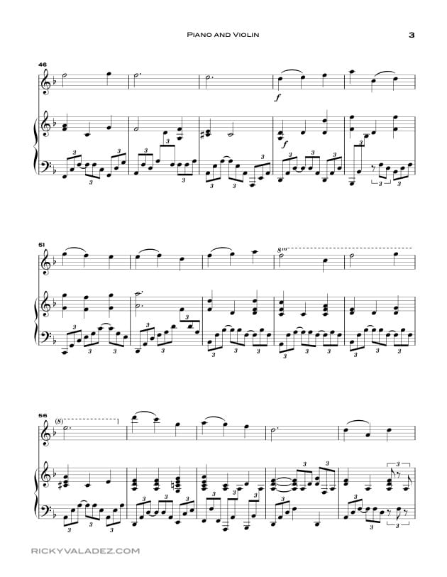 That Easter Morn Sheet Music for Piano and Violin-03